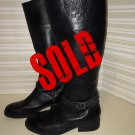 Vince Camuto Women's Flavian Black Leather Boots size 8 B $49.99
