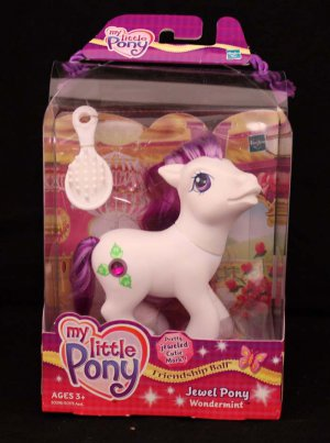 G3-MLP My Little Pony Friendship Ball Jewel Pony Wonder Mint