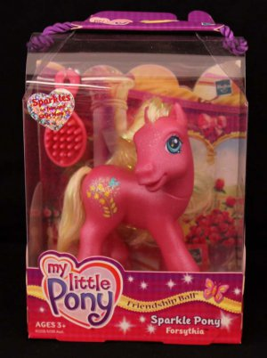 G3-MLP My Little Pony Friendship Ball Sparkle Pony Forsythia