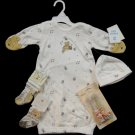 Baby 3-6 Months Disney Classic Pooh Winnie the Pooh Gift Set, Sleeper, socks, hat tootbrush