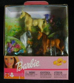 2002-Mattel Barbie Doll Collectors Horse Set w/Hair Clips