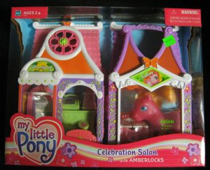 2003- G3 My Little Pony Celebration Salon with Amerlocks