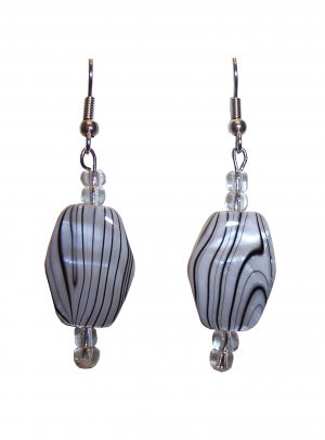 Black & White swirl Earrings