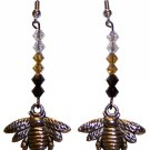 Bumblebee (large) & Swarovski Earrings