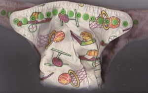 EUC Small-Medium WHAM fitted cloth diaper Sports, Snaps, Microfiber