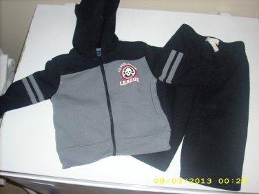 Sweatpants Zip Hoodie Set 18 mo Faded Glory