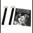 TWO (2) Kubotan Self Defense Protection Key Chain Ring Kubaton w/ Instructions.