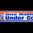 New ONE NATION UNDER GOD bumper sticker. Great gifts!