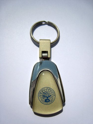 DEPARTMENT OF EDUCATION Metal Logo Key Chain Ring / Fob. Handsome. Quality, NEW