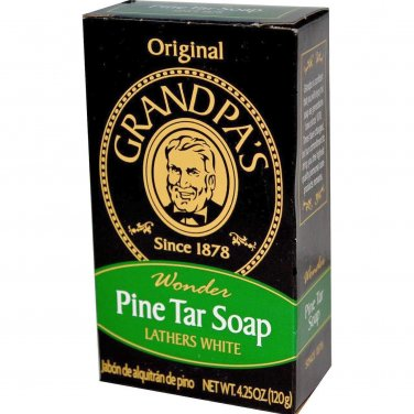 Two (2) Pine Tar Soap Bars (4.25 oz size) - Grandpa's Soap. Factory Fresh