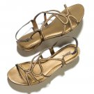 Size 6: Bronze Goddess Rhinestone Embellished Sandals - Avon mark