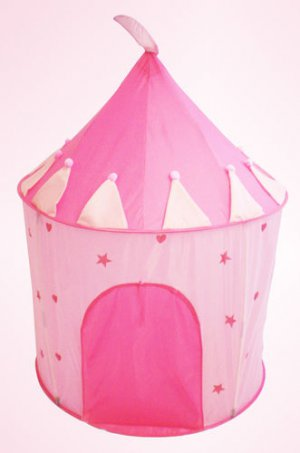 Pink Fairy Princess Play House Portable Folding Tent Castle for Girls Kids Child
