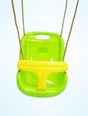 Secure Baby Infant Toddler Swing Seat Snug Fit High Back 6 - 48 Months GREEN