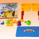 AWESOME Sand & Water Table with Beach Toys Set for Kids By Joybay Removable Lid