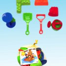 2012 AWESOME 8 Piece Beach Sandbox Set By Joybay Perfect 4 Fun Kids Sand Summer!