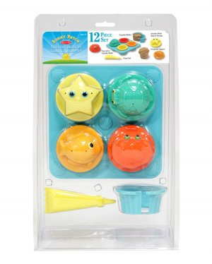 Melissa & Doug 12 Piece Seaside Sidekicks Sand Cupcake Set GREAT FOR BEACH 2012!