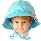 3-6 Years Dudula Baby Summer Sun Hat 100% Cotton in BLUE (4 COLORS AVAILABLE!!)