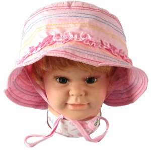 3-6 Years Dudula Baby Summer Sun Hat 100% Cotton in PINK(4 COLORS AVAILABLE!!)