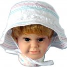 3-6 Years Dudula Baby Summer Sun Hat 100% Cotton in WHITE (4 COLORS AVAILABLE!!)