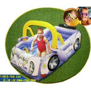 "New Children's Flower Power Pool Car (59"" x 36"" x 33"")"