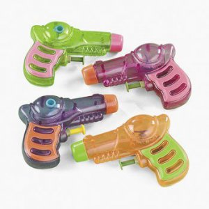 Lot of 12 Pack Neon Squirt Gun Soakers Great for Small Water Super Party Favors!