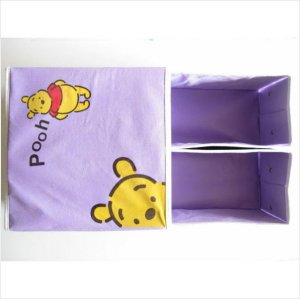 Winnie the Pooh Foldable Nursery&room Storage Box with two Drawers! (PURPLE)