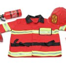BRAND NEW Melissa & Doug Role Play Fire Chief Costume Set w Toddler Accessories