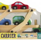 BRAND NEW Melissa & Doug Classic Wooden Melissa & Doug Semi Truck Car Carrier
