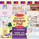 NEW Melissa & Doug Reusable Sticker Pad 3 Themes to Choose Play House