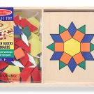 Melissa & Doug Patterns Blocks and Board Preschool Montessori BNIB 2012 NWT!!!!!