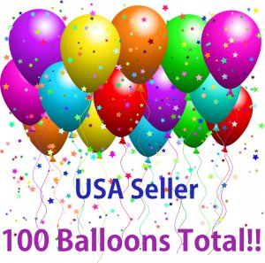 """100 Pieces 11 """" Assorted Color Decoration Oval Latex Balloons Pack Party Favors"""
