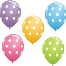 "12 Pack Polka Dot 11"" Pastel Latex Decorative Party Favor Celebration Balloons !"