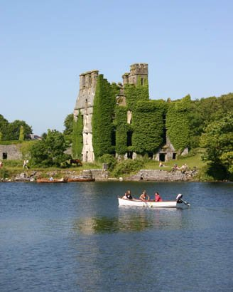 Galway Ireland ruined castle and river