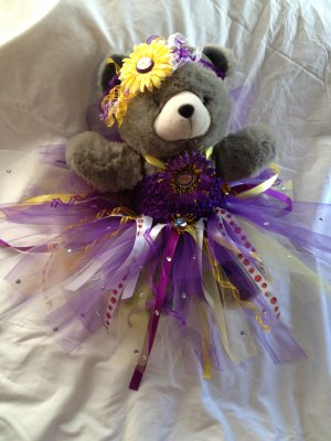 LAKERS 3 PIECE TUTU OUTFIT & HEADBAND