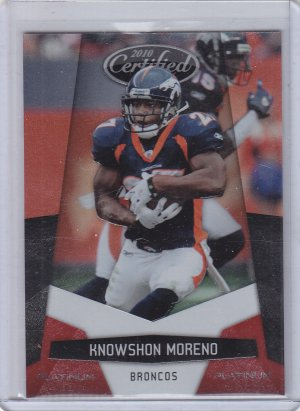 2010 Panini Certified Platinum Red #45 Knowshon Moreno #'D 260/999