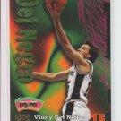 1997-98 Skybox Z-Force #100 Vinny Del Negro Spurs Corner Wear