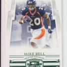 2007 Donruss Threads Retail Green #79 Mike Bell Broncos #'D 196/200