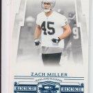 2007 Donruss Threads Retail Blue Rookie Card #208 Zach Miller Raiders #'D 136/350