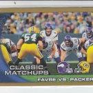 2010 Topps Gold Border #281 Brett Favre vs. Packers #'D 1714/2010