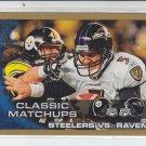 2010 Topps Gold Border #369 Steelers vs. Ravens #'D 1515/2010