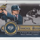 2009 UD A Piece of History Franchise History #FH-KG Khalil Greene Padres #'D 562/999