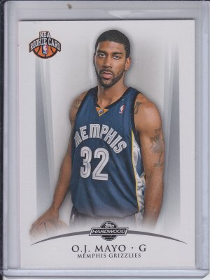 2008-09 Topps Hardwood Rookie Card #103 O.J. Mayo Grizzlies #'D 1329/2009