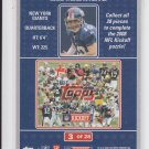 2008 Topps Kickoff Puzzle #3 Eli Manning Giants