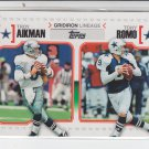 2010 Topps Football Gridiron Lineage #GL-AR Troy Aikman/Tony Romo (Chipping)