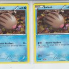 Lot of (2) Pokemon Black & White Plasma Storm Common #26/135 Swinub