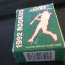 1992 Score Rookies Complete 40 Card set Baseball RC of Thome, Lofton & Sanders
