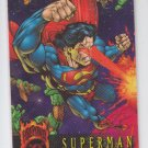Superman Promo Trading Card 1996 Skybox Embossed Outburst Firepower *ROB
