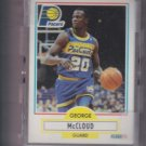 George McCloud Rookie Card Lot of (21) 1990-91 Fleer #77 Pacers