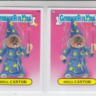 Spell Castor Base Lot x2 Garbage Pail Kids Series 2 Trading Card #79b