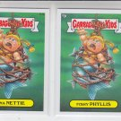Fishy Phyllis & Tuna Nettie 2013 Topps Garbage Pail Kids Series 2 111a 111b
